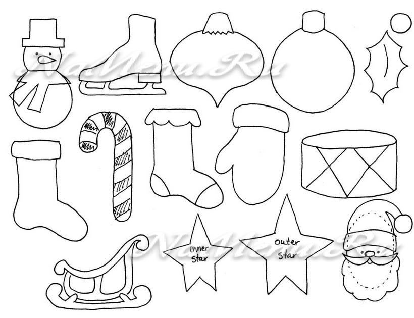 Новогодними игрушки из фетра выкройки своими руками 155