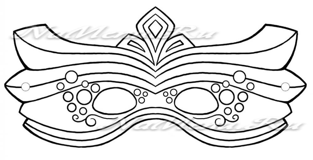 Новогодние маски шаблоны скачать