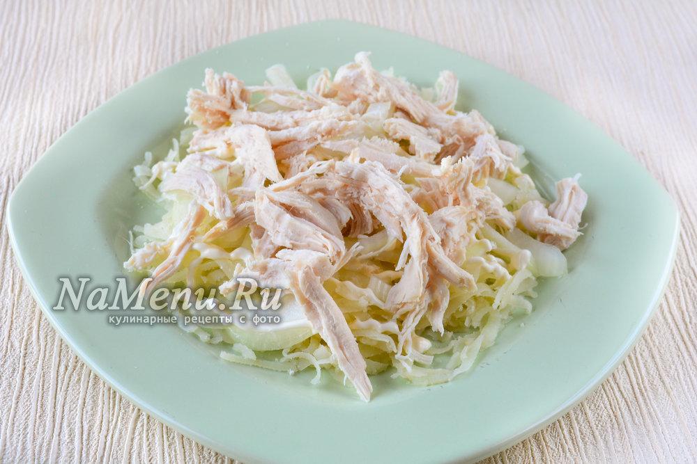 салат с куриной грудкой и пекинской капустой рецепт с фото пошагово