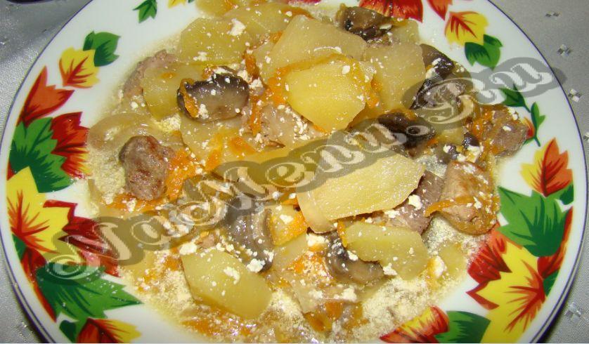 свинина картошка грибы рецепт в горшочке в духовке