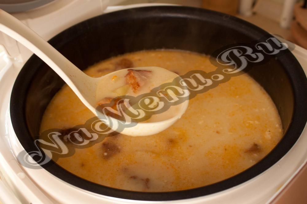 рецепт сырного супа с рисом в мультиварке