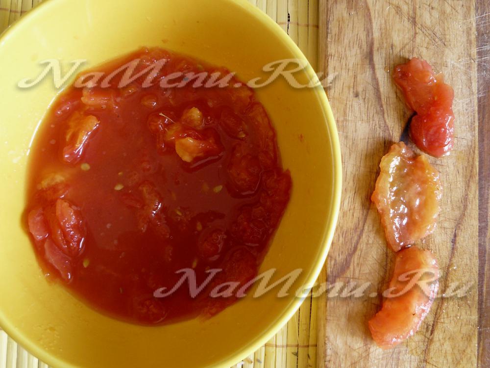 Как сделать подливу из томатной пасты с мясом 845