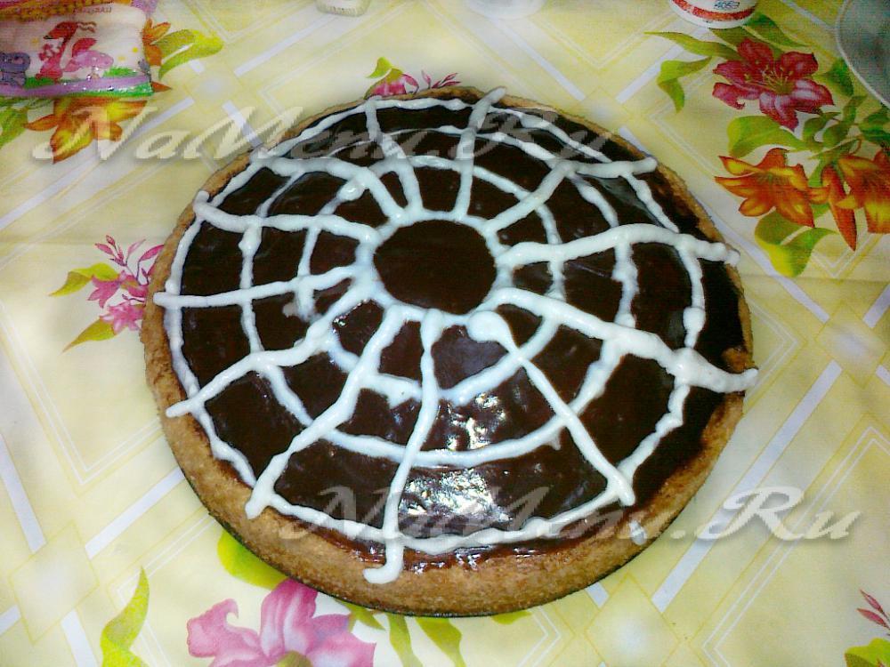 Как сделать паутинку для торта 860
