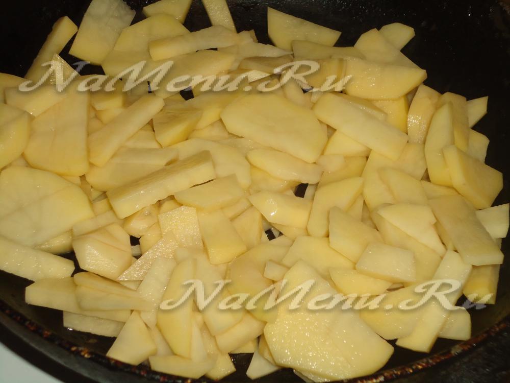 как приготовить картошку жареную рецепт с фото