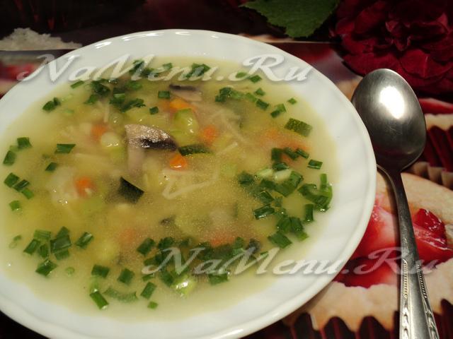 рецепт супа из белых грибов с вермишелью рецепт