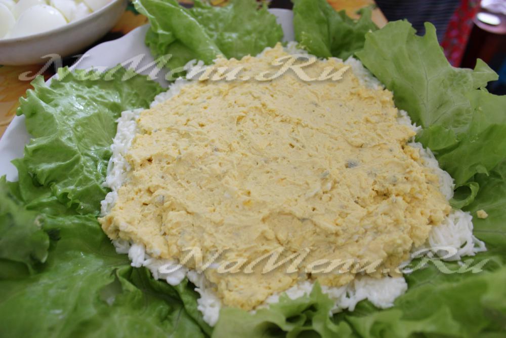 салат жемчужина рецепт с фото с икрой и