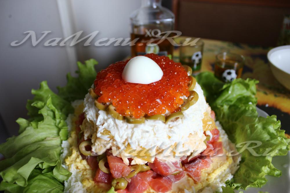 рецепт салата морская жемчужина с красной
