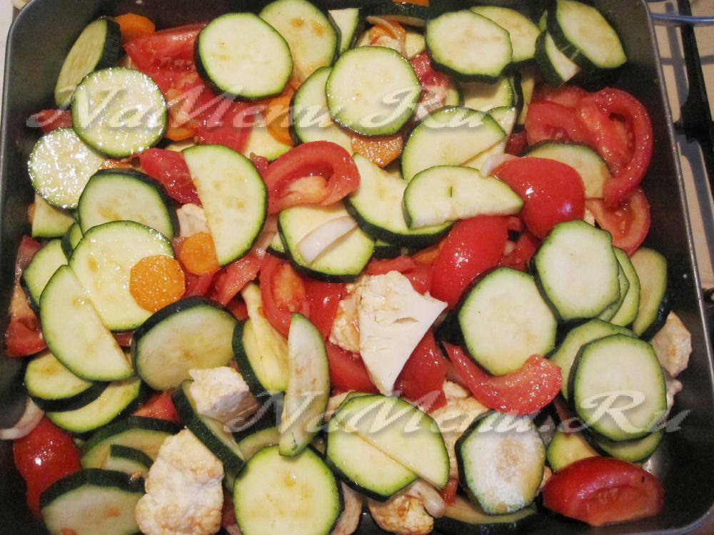 Запеченные овощи в духовке без масла рецепт