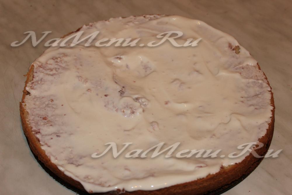 Бисквит со сметаной рецепт с фото пошагово