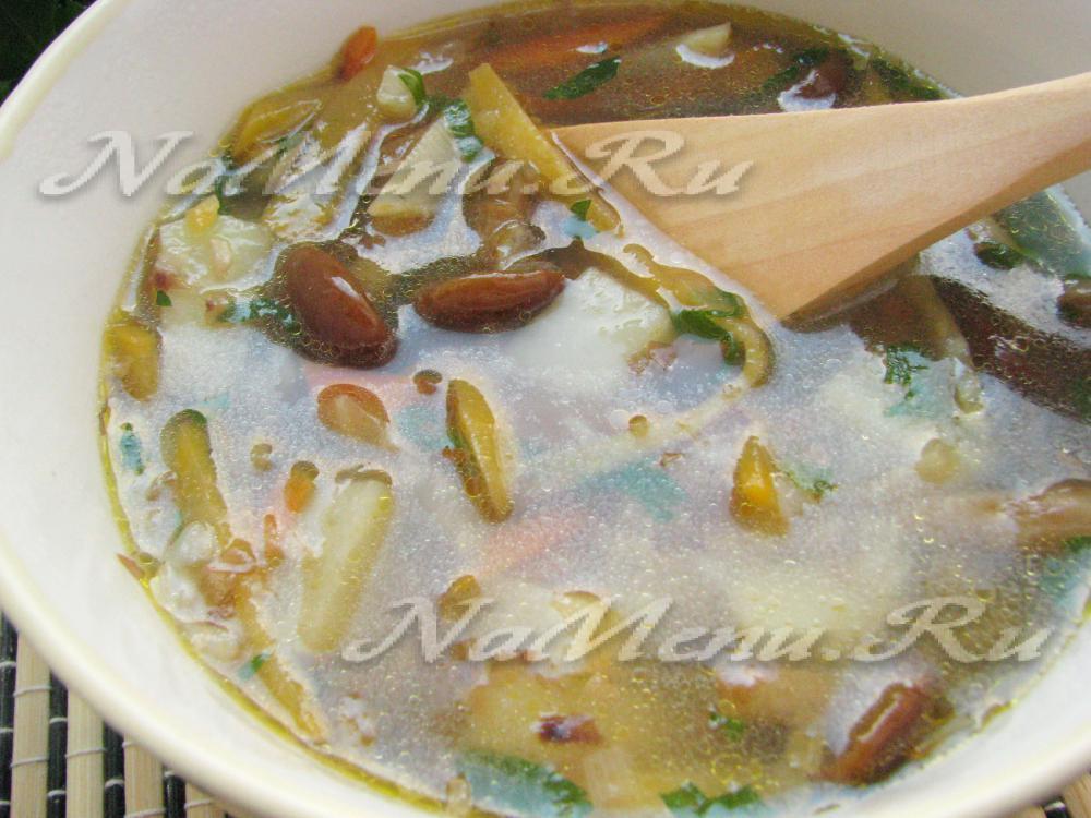 рецепт супа с опятами и гречкой