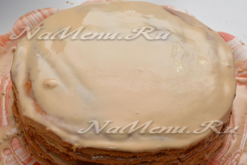 Крем сметанный со сгущенкой рецепт фото