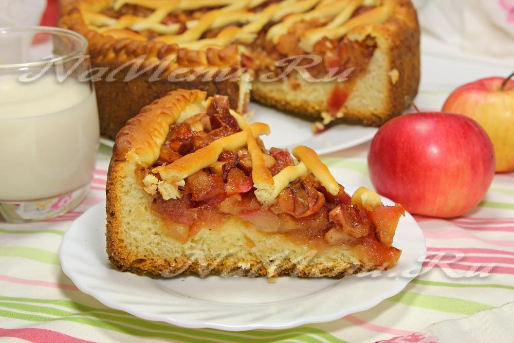 дрожжевой яблочный пирог рецепт с фото
