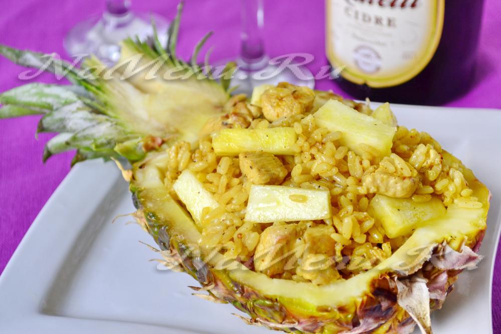 Салаты из ананасов и риса