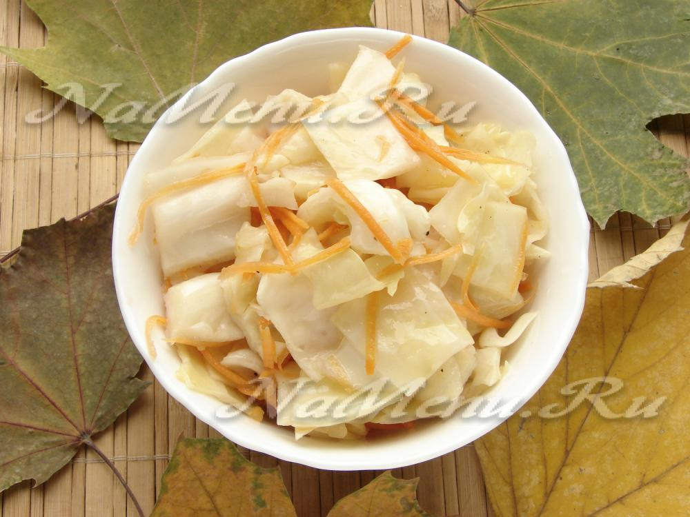 салат капуста по болгарски рецепт