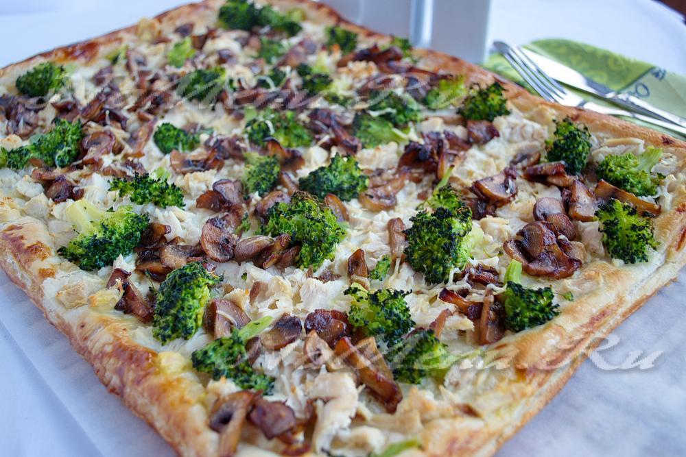 Рецепт пирога с брокколи и курицей