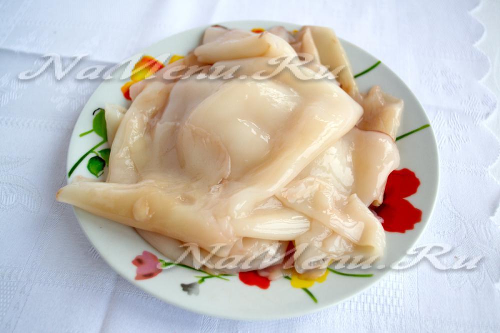 рецепт салата кальмары и свежий огурец
