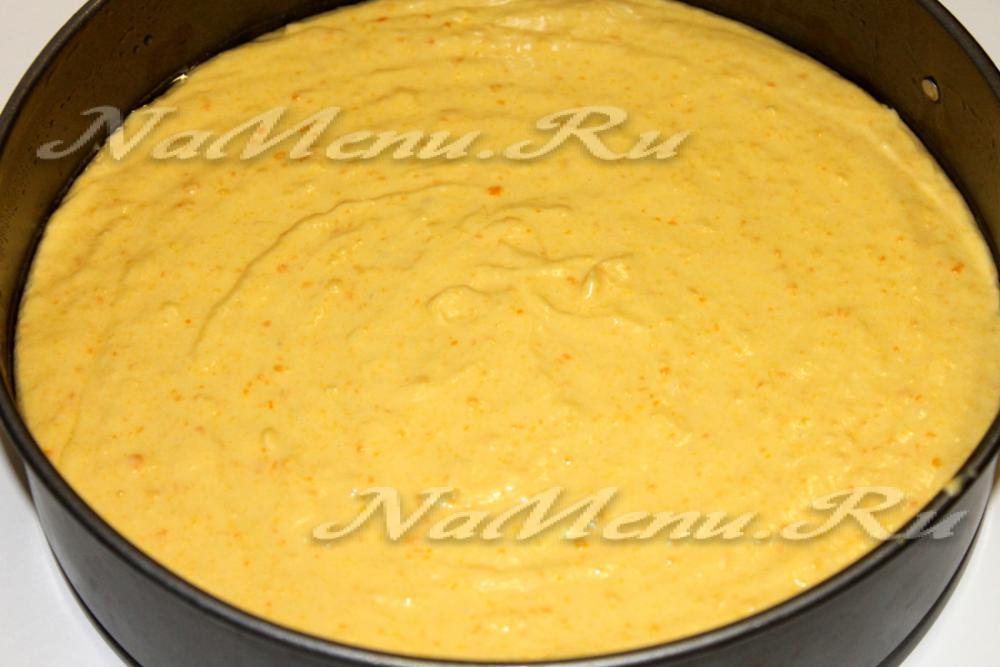 Пирог из мандаринов рецепт с в духовке 180