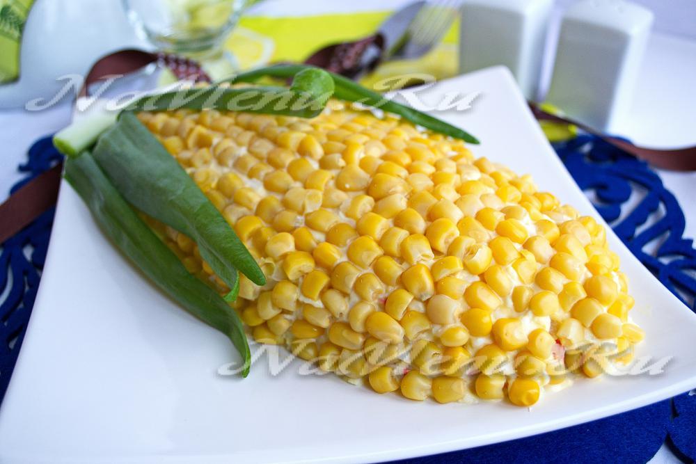 Фото рецепт салат с кукурузой