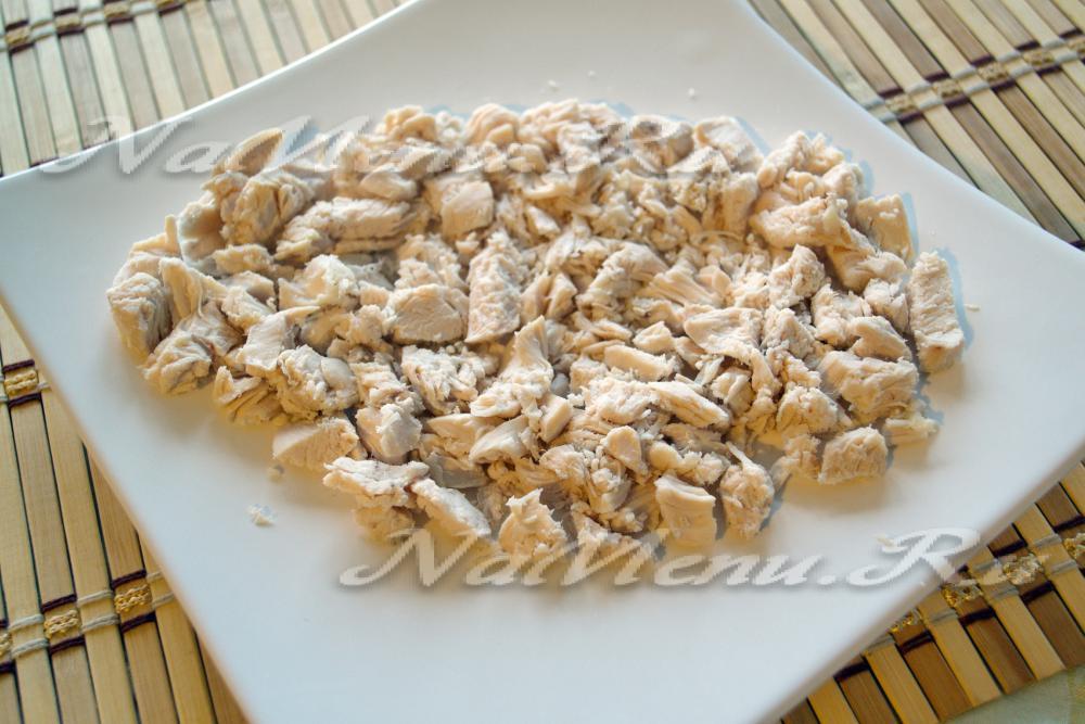 салат из трески с грибами рецепт