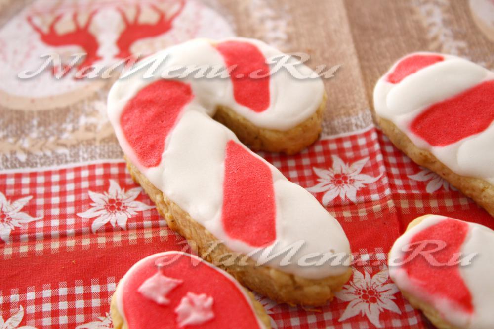 Рождественское печенье с глазурью рецепт с фото