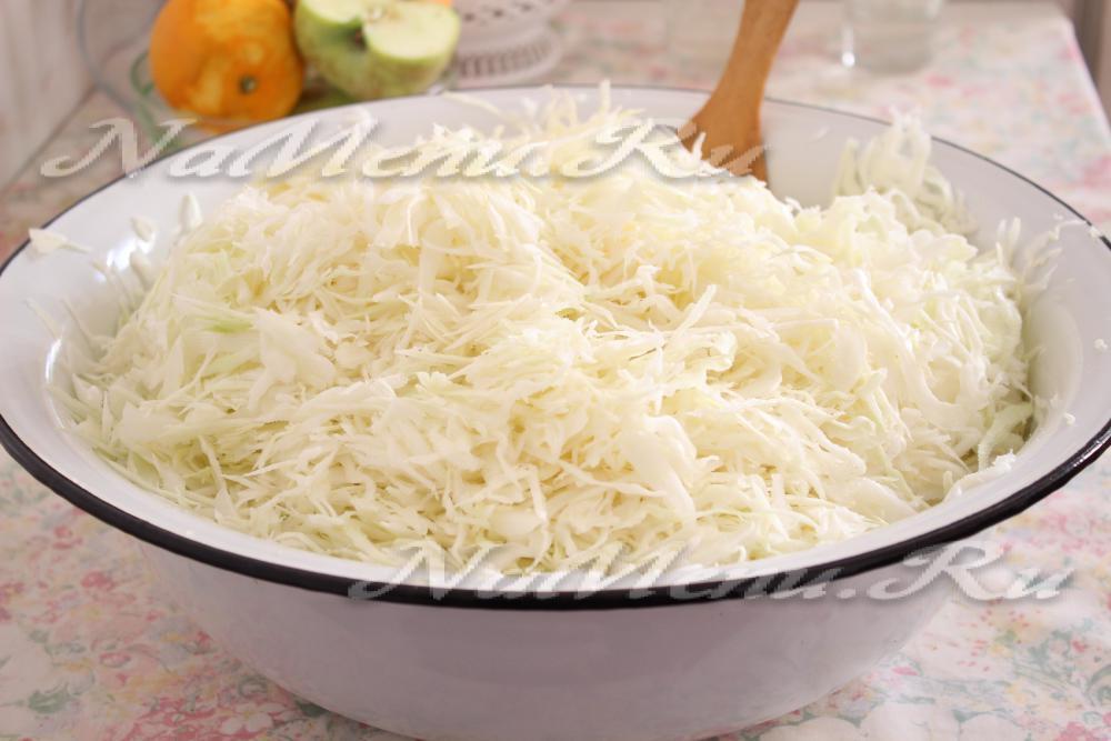 Как сделать шинкованную капусту