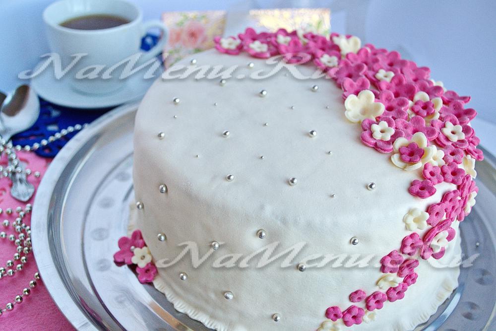 Торт из мастики своими руками бисквит 145