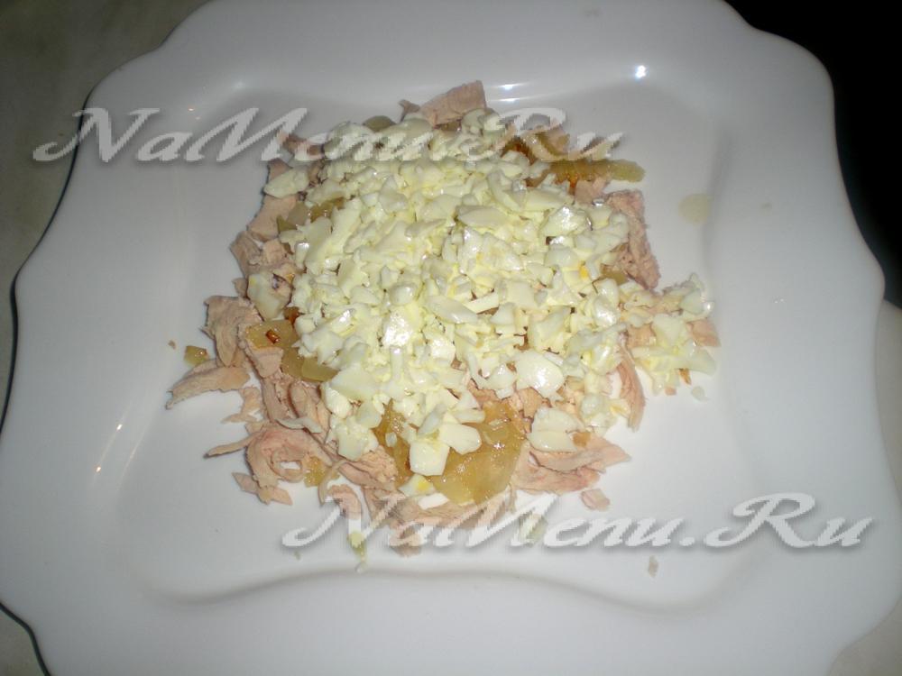 Салат белая береза с яблоком рецепт пошагово