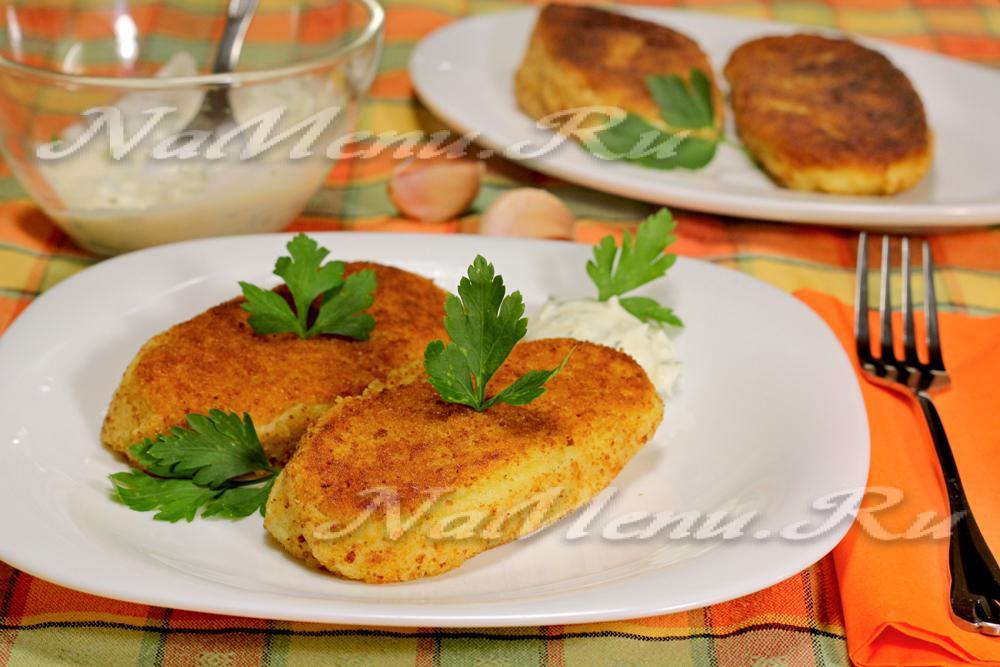 Зразы картофельные с шампиньонами рецепт