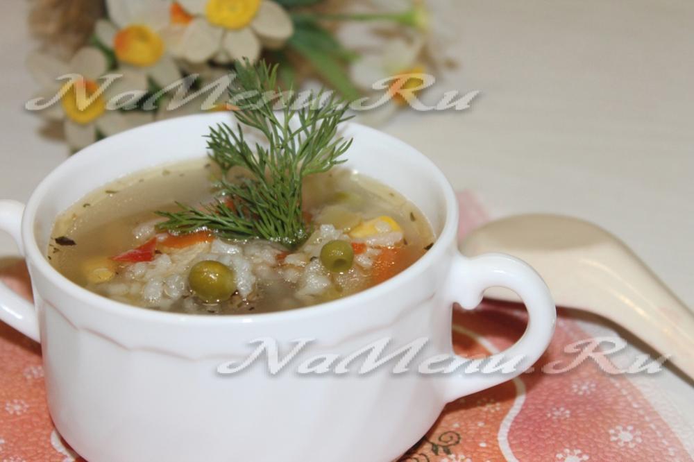 суп пюре из овощей и курицы рецепт с фото
