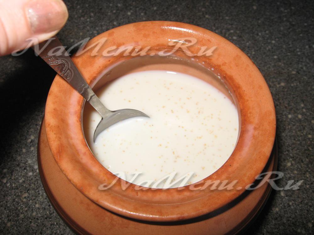 Рецепт манника в микроволновке на молоке