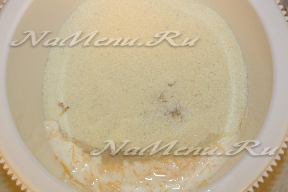 Манник рецепт на кефире в духовке с содой рецепт