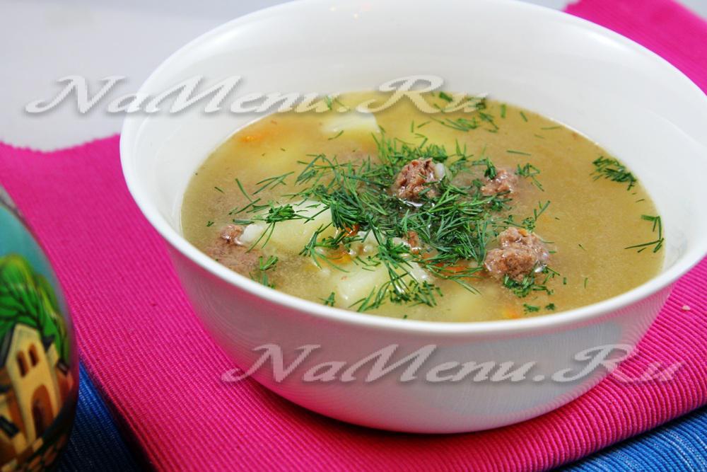 Суп овощной с фрикадельками в мультиварке рецепт