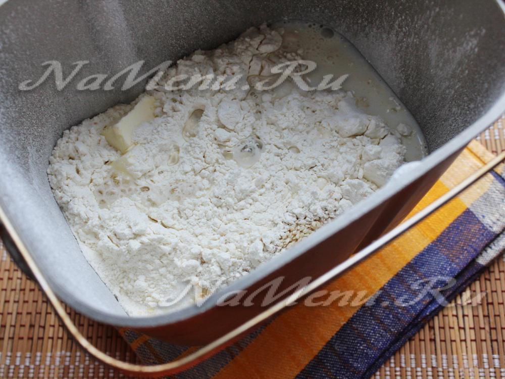 Белый хлеб на молоке для хлебопечки