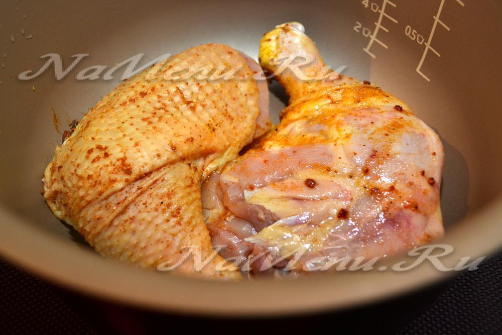 Вкусное жареное филе курицы