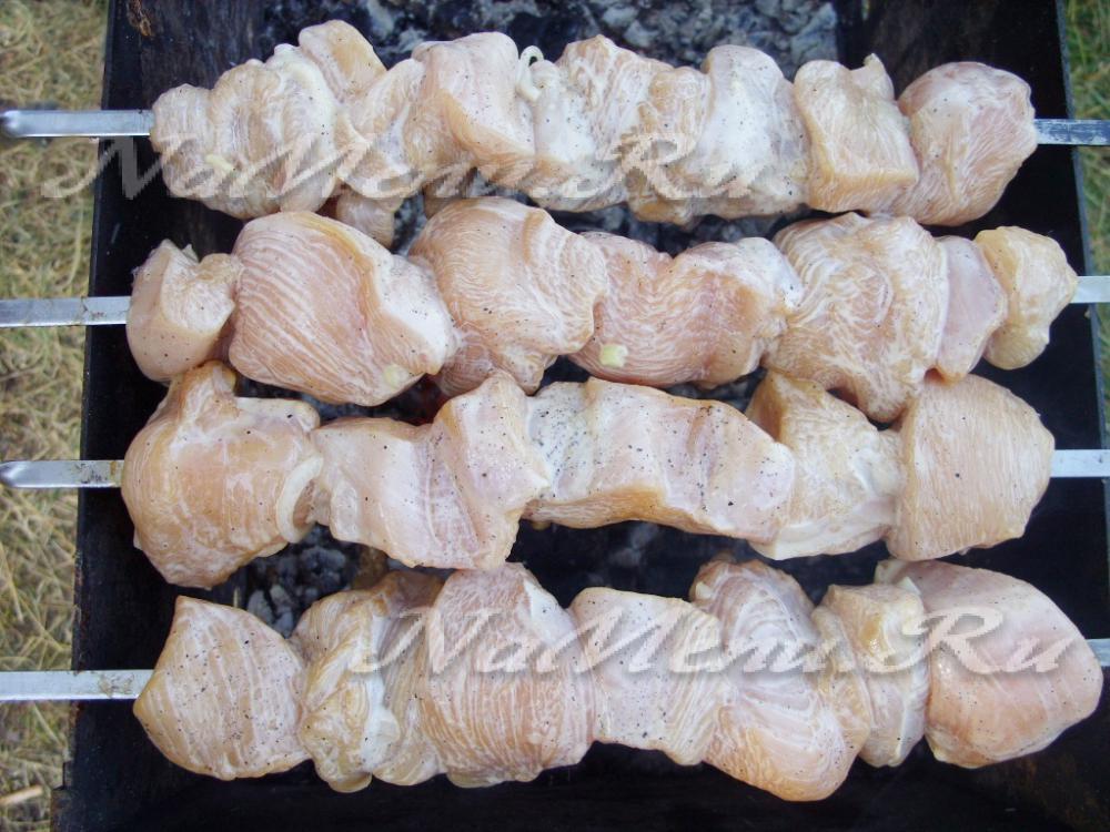 рецепт нежного шашлыка из курицы