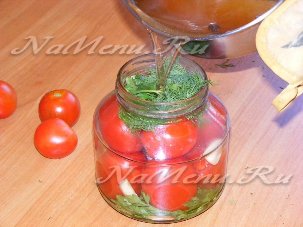 Помидоры по армянски рецепт быстрого приготовления
