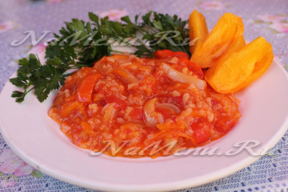 рецепт салат рис морковь помидор на зиму