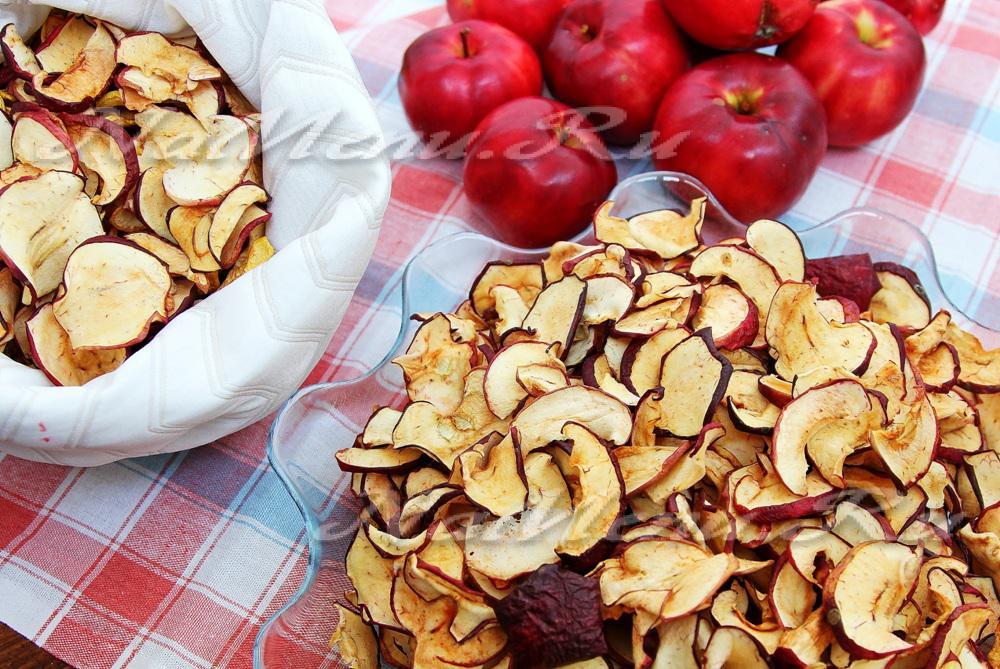 Сушеные яблоки в духовке рецепт с фото