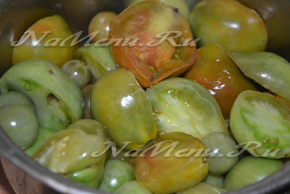 Рецепт аджики из зеленых помидор