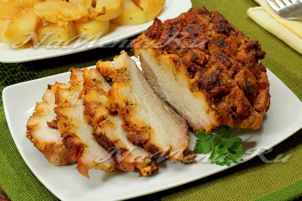 картошка с мясом в духовке рецепт с видео