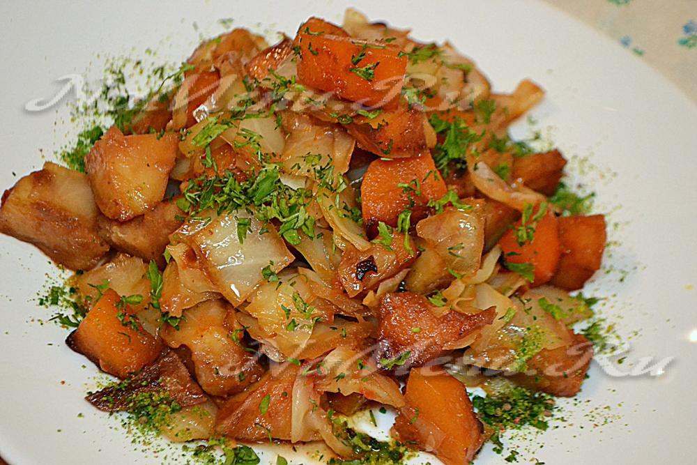 рецепт овощного рагу с картошкой и капустой