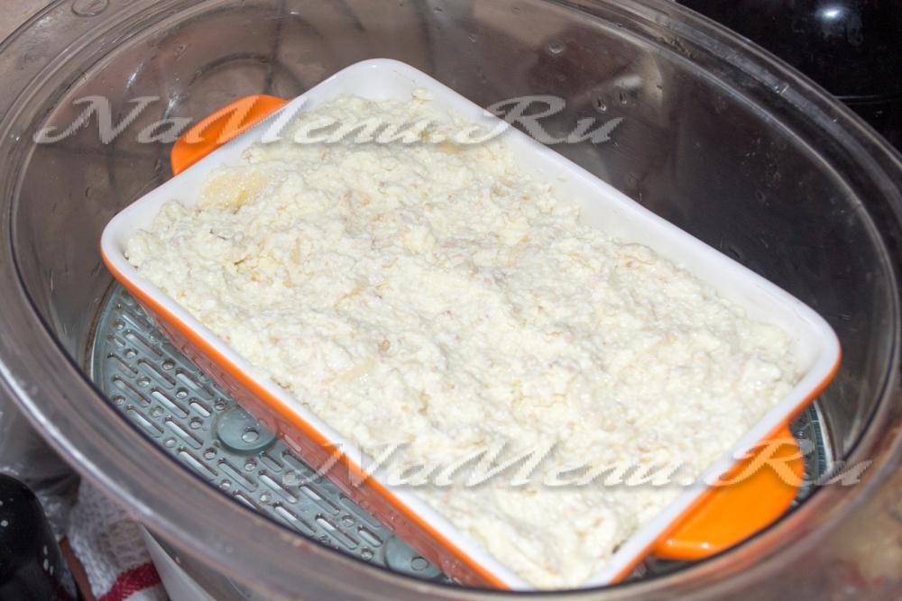 Рецепты в пароварке фото творожная запеканка