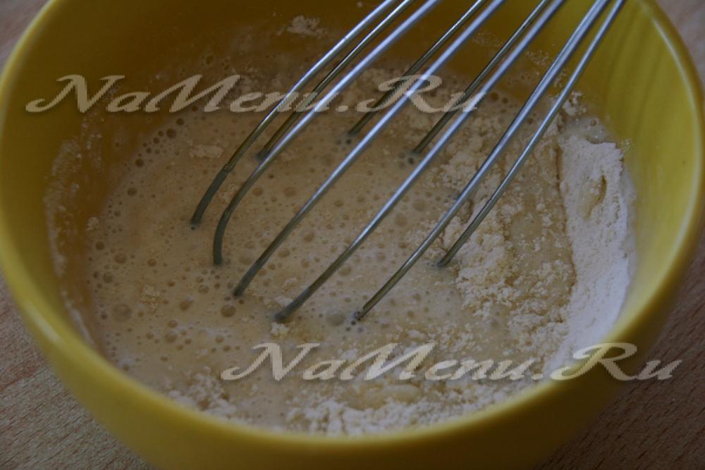 Торт рыжик крем на молоке