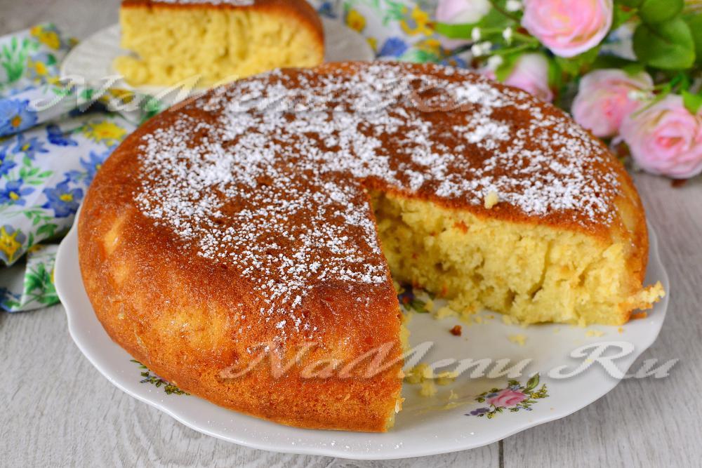 не сухой пирог в мультиварке рецепты с фото