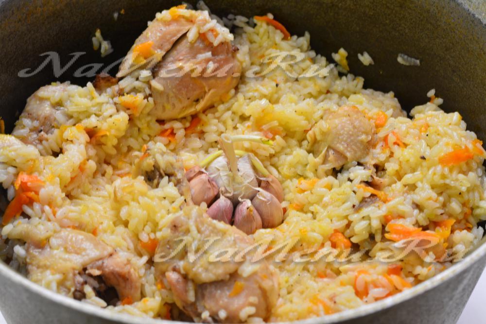 Как приготовить плов из курицы в казане дома рецепт пошагово