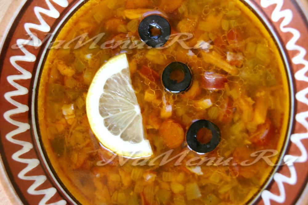 солянка оливками рецепт фото