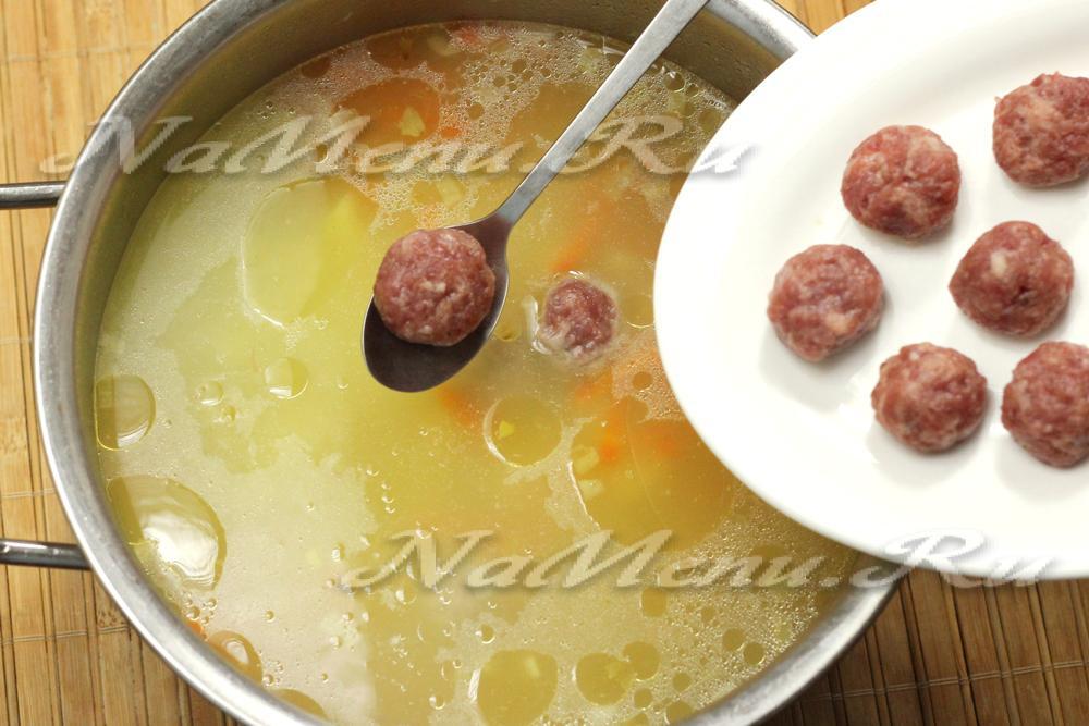 Фрикадельки с рисом для супа рецепт из фарша с пошагово в