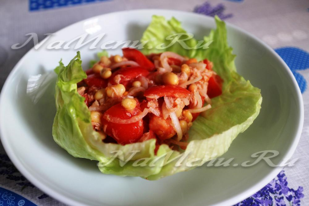 рецепт салата с тунцом с маслом
