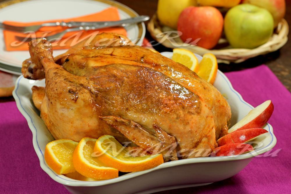 курица в духовке с фруктами рецепт с фото