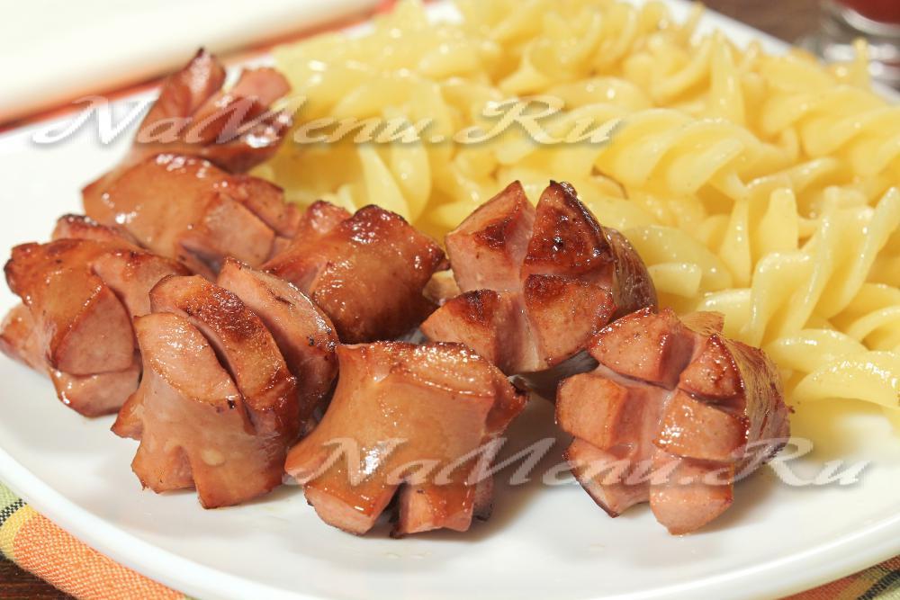 макароны в духовке с сосисками и сыром рецепт
